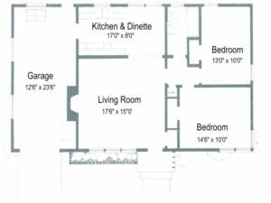Awesome 2 Bedroom House Plans Without Garage Arts Simple House Plan With 2 Bedrooms Image Two Bedroom House Bedroom House Plans 2 Bedroom House Plans