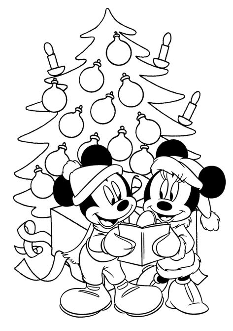 Mickey Mouse Christmas Coloring Pages Paginas Para Colorir Natal