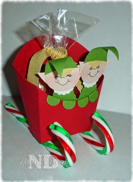 Paper Dreams & Creative Wishes - Fry Box die makes a sleigh.