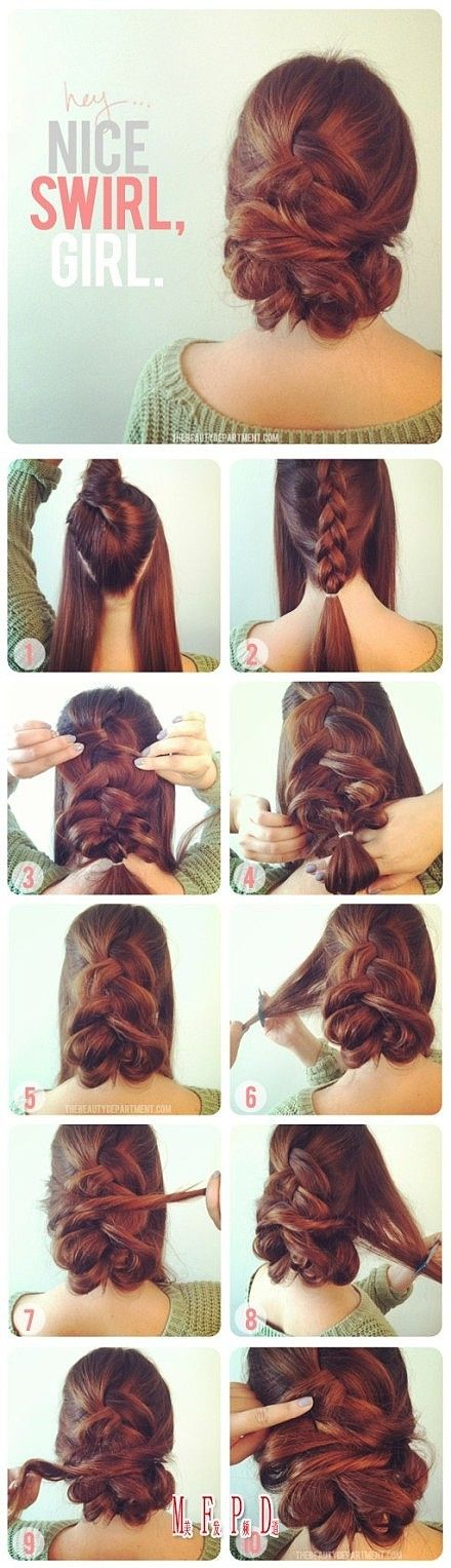 messy braid up do...one day
