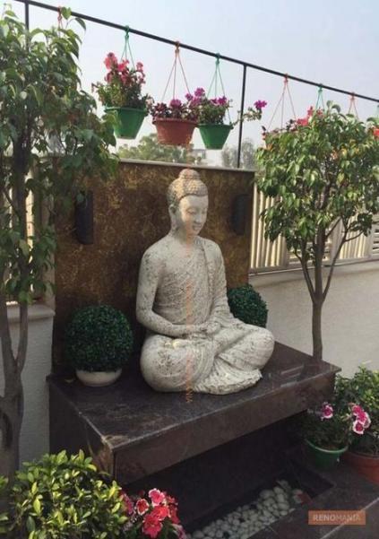 23 Ideas For House Garden Interior Hanging Plants Buddha Garden Buddha Decor Garden Landscape Design