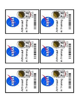 This Badge Can Be Used For A Space Nasa Themed Classroom Transformation They Measure 3 5 In X 2 5 In Space Theme Classroom Space Classroom Space Preschool