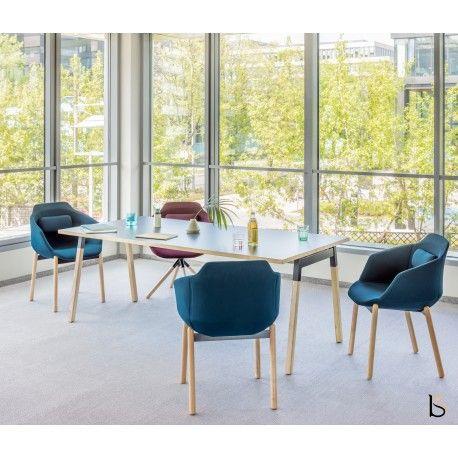 Table De Reunion Rectangulaire Ogi Mdd Pieds En Bois Massif Meubles De Rangement Table De Reunion Mobilier De Salon