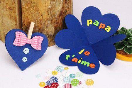 Carte Chemise Coeur Fete Des Peres Idee Fete Des Peres Fete