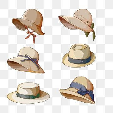 Vacation Straw Hat Hand Painted Straw Hat Cartoon Hat Travel Png Transparent Clipart Image And Psd File For Free Download Hats Drawing Clothes Cartoon