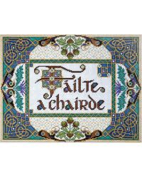 A Chairde Chair Without Back Design Works Welcome Friends Failte Cross Stitch Kit