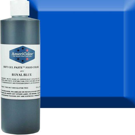 Royal Blue AmeriColor® Soft Gel Paste™ Food Color   Gel food ...