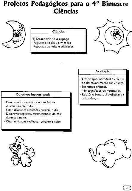 Atividades Para Educacao Infantil Dia E Noite Com Imagens