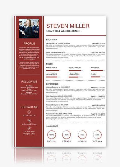 Resume Sample Download Cv Template Lovepik Com Resume Words Personal Resume Resume