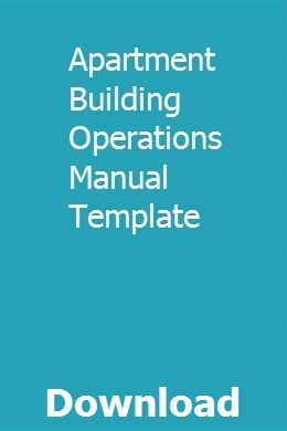 Apartment Building Operations Manual Template pdf download