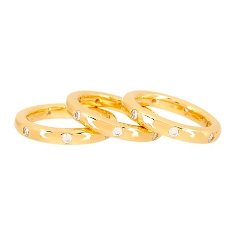 Simulated Diamond Stack Ring Set | Nordstrom Rack