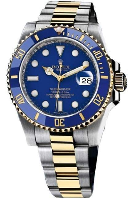 Rolex Submariner - Blue Dial, Blue Bezel Gold mix band Rolex is the most powerful watch brand in the world. That does not mean Rolex watches are the best, or that they are worth the most. Rather that the brand itself has the highest value.