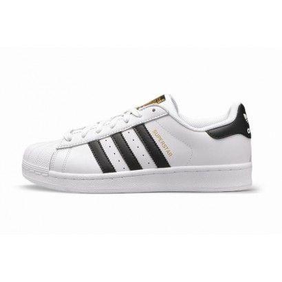 Hommes Chaussure Adidas Superstar Blanc Noir Or