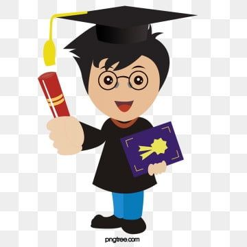 A College Student Wearing A Bachelor S Gown Student Clipart College Student Graduation Png Transparent Clipart Image And Psd File For Free Download