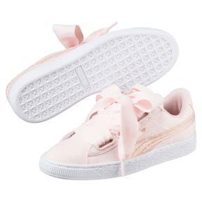 SneakersPearl White Puma Women's Basket Heart Canvas Rose thQrCsxd