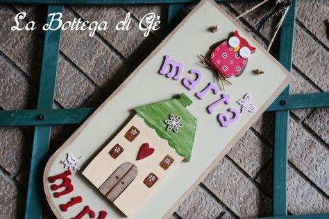 Decorazioni In Legno Per Bambini : Tavola di legno per cameretta da bambini dipinto a mano con