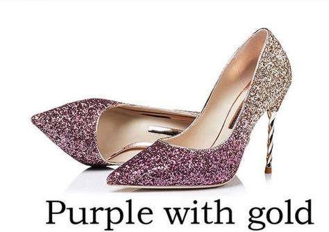 Glitter Mid Heel Ombre Stiletto Luxury