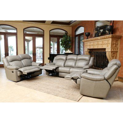 Sofas For Sale Abbyson Bethany Reclining Leather Sofa Loveseat and Armchair CX GRY