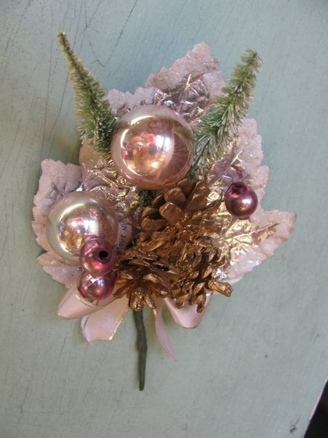 vintage corsage..I remember these from the '50's! We used to wear them on coats in the sixties all diff colors, so pretty........