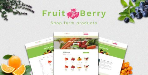 Fruit & Berry — PSD Template | Stylelib
