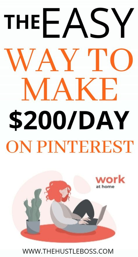 Here is the easy way to make money online working from home through Pinterest