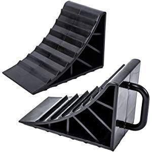 Cocoarm Rampe Gummi Bordsteinrampe Gummirampe Rollstuhlrampe Auffahrrampe Auffahrhilfe Rollstuhl Flachrampe 48.5 X 30 X 9.5 CM