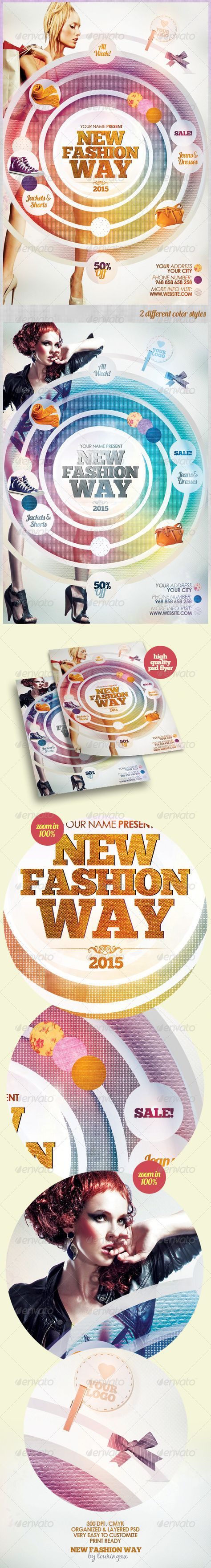 New Fashion Way Flyer Template / $6. *** This flyer is perfect for the promotion of Shops/Boutiques, Fashion Shows, New Collections or whatever you want!.***