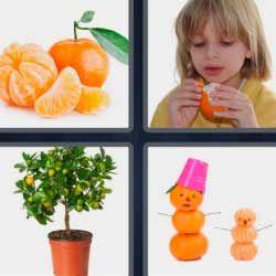 Naranja Frutas Nino Comiendo 4fotos 1palabra Com 4 Fotos 1