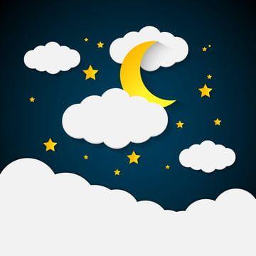 Nochnoe Nebo Polno Oblakov Lun I Zheltye Zvezdy Znachok Vektor Vozduha Png I Vektor Png Dlya Besplatnoj Zagruzki In 2020 Cloud Icon Cartoon Clouds Night Skies