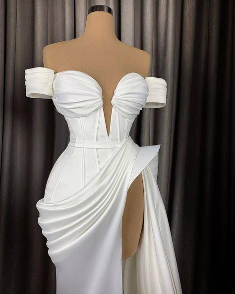 Glam Dresses, Event Dresses, Couture Dresses, Pretty Dresses, Beautiful Dresses, Fashion Dresses, Vetement Fashion, Draped Dress, Dream Wedding Dresses