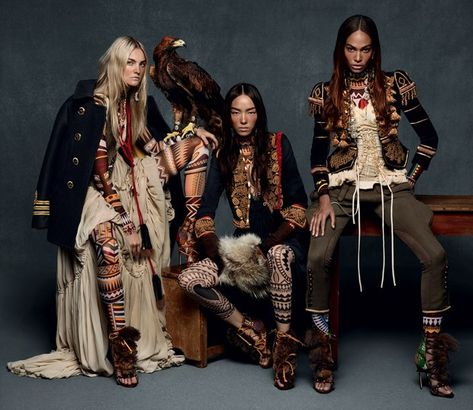 Supermodels Caroline Trentini, Fei Fei Sun, and Joan Smalls star in Fall Winter 2015 campaign captured by fashion photography duo Mert & Marcus.