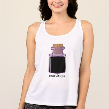 Purple Bottled Teardrops Billie Eilish Tank Top Zazzle Com Tank Tops Tops Tank Top Fashion