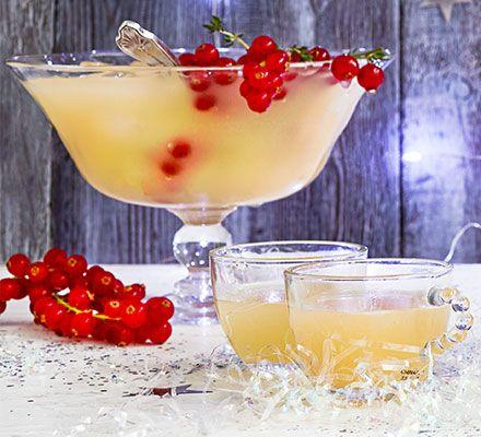 Pear & rose punch | Recipe | Bbc good food recipes, Alcoholic ...