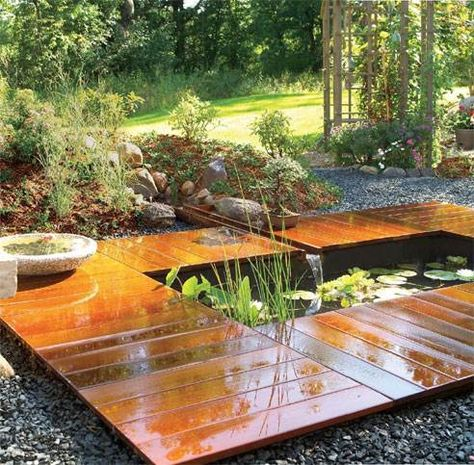 Bamboo Timber Garden Waterfalls Backyard Ponds Backyard