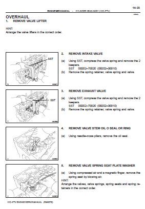 Toyota 1cd Ftv Engine Repair Manual Rm927e Repair Manuals Engine Repair Repair