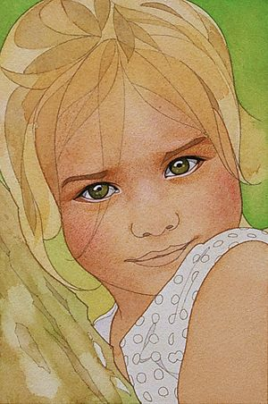 Dessins Et Aquarelles Pas A Pas Portrait D Enfant N 8