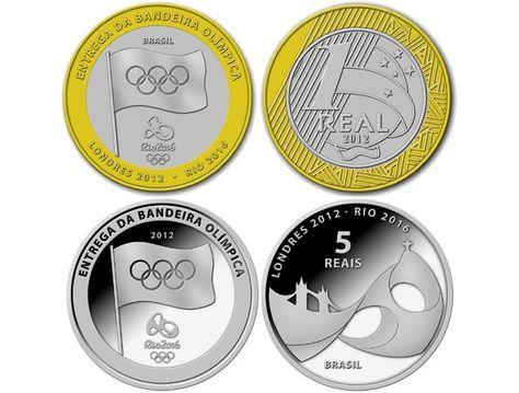 Banco Central Lancara Moedas Comemorativas Das Olimpiadas Moedas