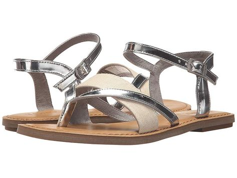5a69dbd60f7bef TOMS Lexie Sandal (Silver Specchio Hemp) Women s Sandals. With every pair  of shoes you purchase TOMS will give a new pair of shoes to a child in need.