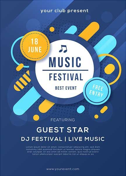 5 Contoh Desain Gambar Poster Menarik Untuk Acara Festival Format Desain Poster Poster Desain