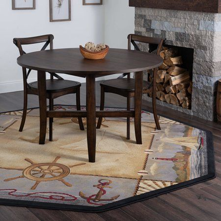 Bliss Rugs Stamford Novelty Indoor Octagon Area Rug Beige Area