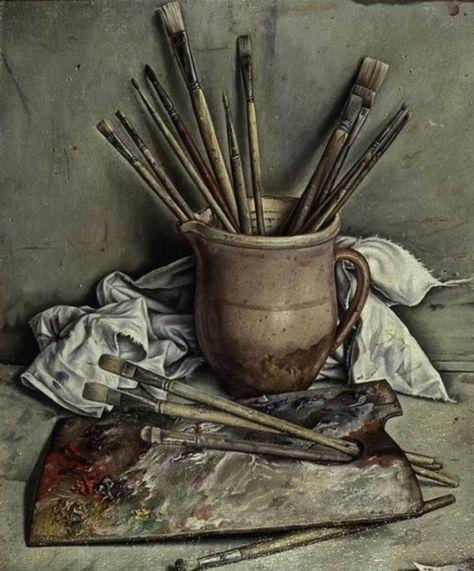 Palette Et Pinceaux 1928 Francois Emile Barraud Comment