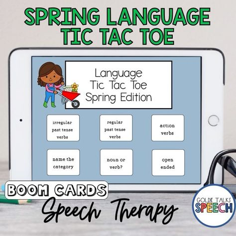 Spring Language Tic Tac Toe Boom Cards