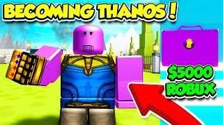 Becoming A Superhero In Roblox - Becoming Thanos In Superhero Simulator For 5000 Robux