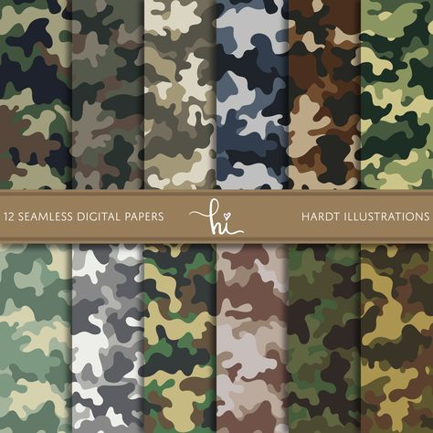 Camouflage Digital Paper, Camo Digital Paper, Army Pattern Design, Military Background, Camouflage T