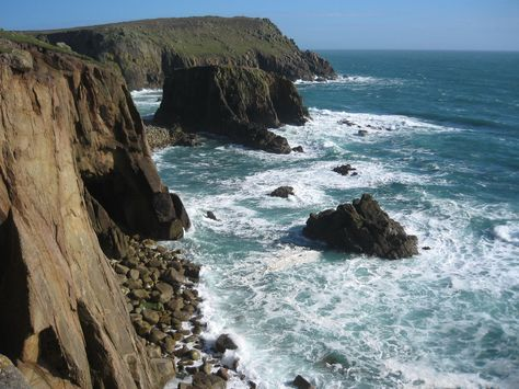 What could be more romantic than watching and hearing the waves lap against the rocks at Land's End, Cornwall?