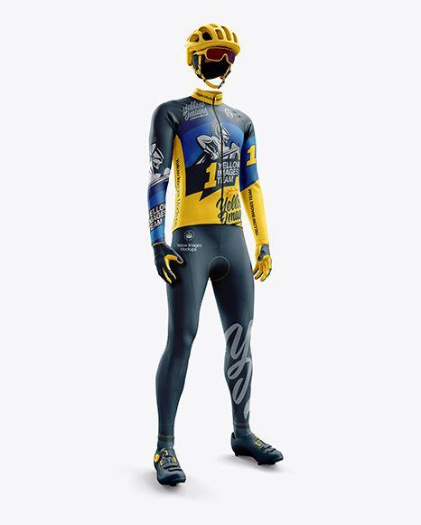 Download Men S Full Cycling Thermal Kit Mockup Hero Shot In Apparel Mockups On Yellow Images Object Mockups Clothing Mockup Design Mockup Free Psd Designs