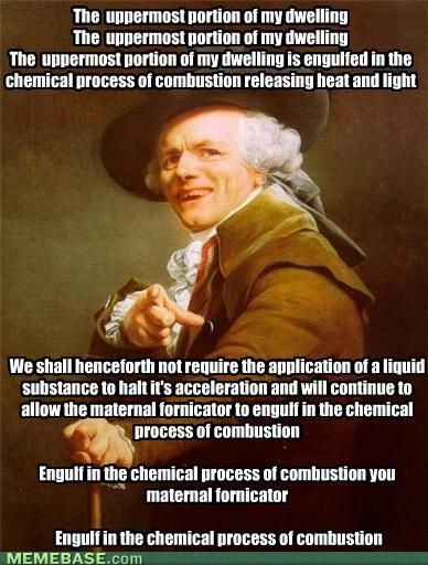 The Roof, The Roof, The Roof Is On Fire, We Donu0027t Need No Water, Let The  Motherfucker Burn, Burn Motherfucker Burn. Hahah | Pinterest | Joseph  Ducreux, ...