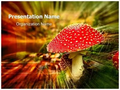 Jestive i otrovne gljive by Pogimnazija via slideshare ppt - nature powerpoint template
