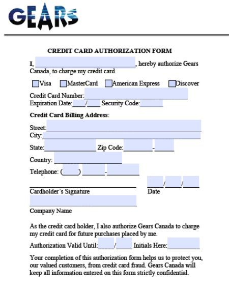 Credit Cards Authorization Form Template 39 Ready To Use Templates Template Sumo Credit Card Discover Credit Card Templates