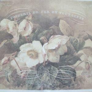 Papier de riz-Motif Paille soie-Decoupage-Vintage-Shabby r1362